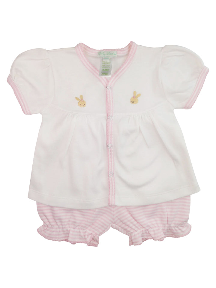 Bunny's 2 pc baby shirt and diaper cover set - Little Threads Inc. Children's Clothing