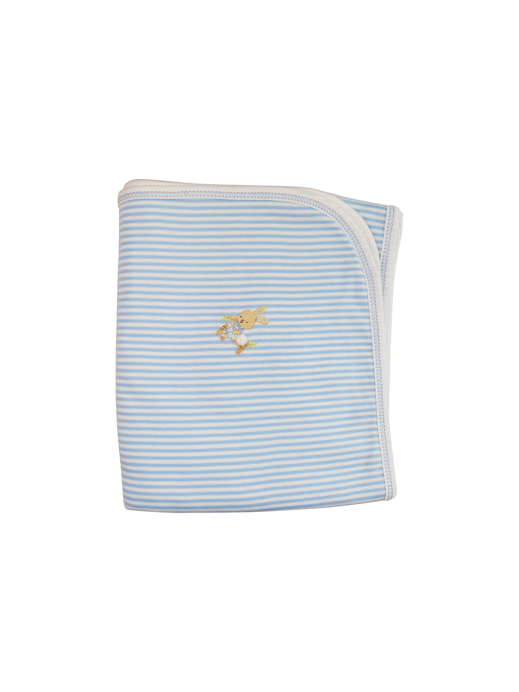 Baby Boy's Blue Striped Bunny Blanket - Little Threads Inc. Children's Clothing