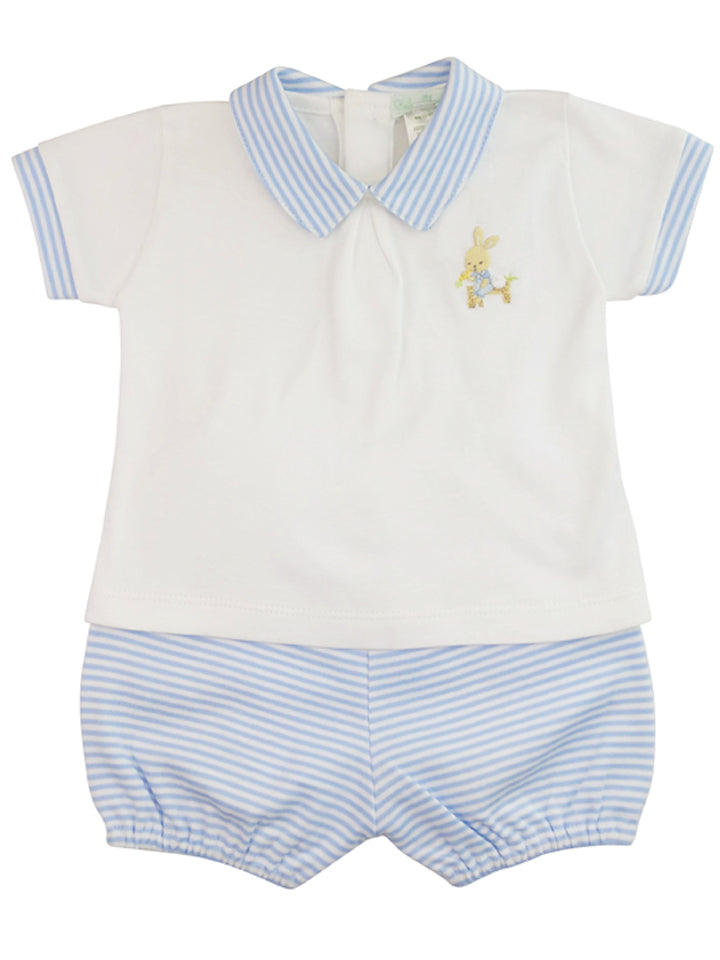 Baby Boy's Bunny shirt and diaper cover set - Little Threads Inc. Children's Clothing
