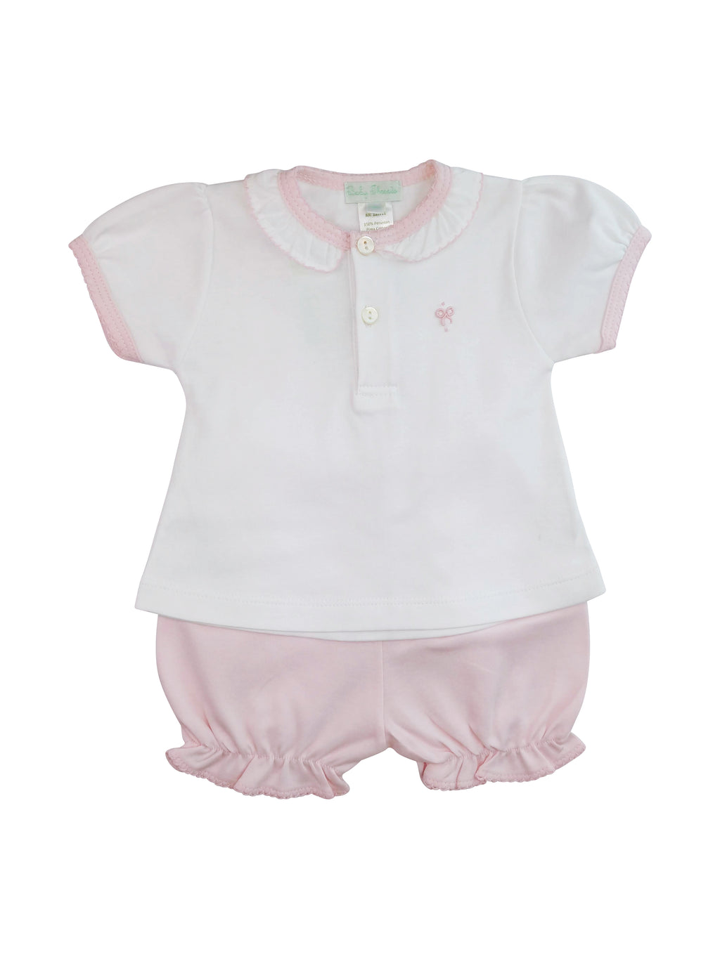 Baby Girl's White Bows Short Set - Little Threads Inc. Children's Clothing