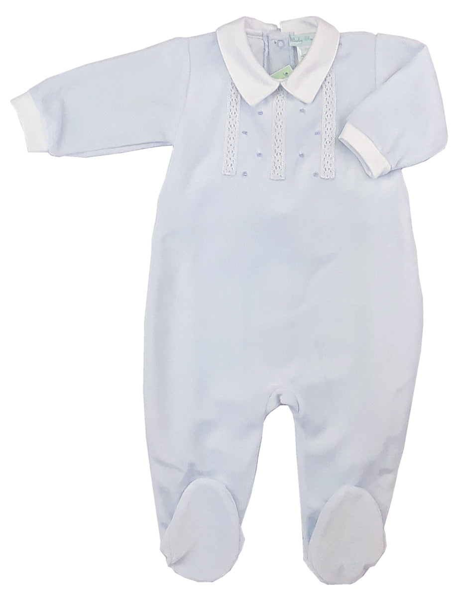 Baby Boy's Velour  Footie - Little Threads Inc. Children's Clothing