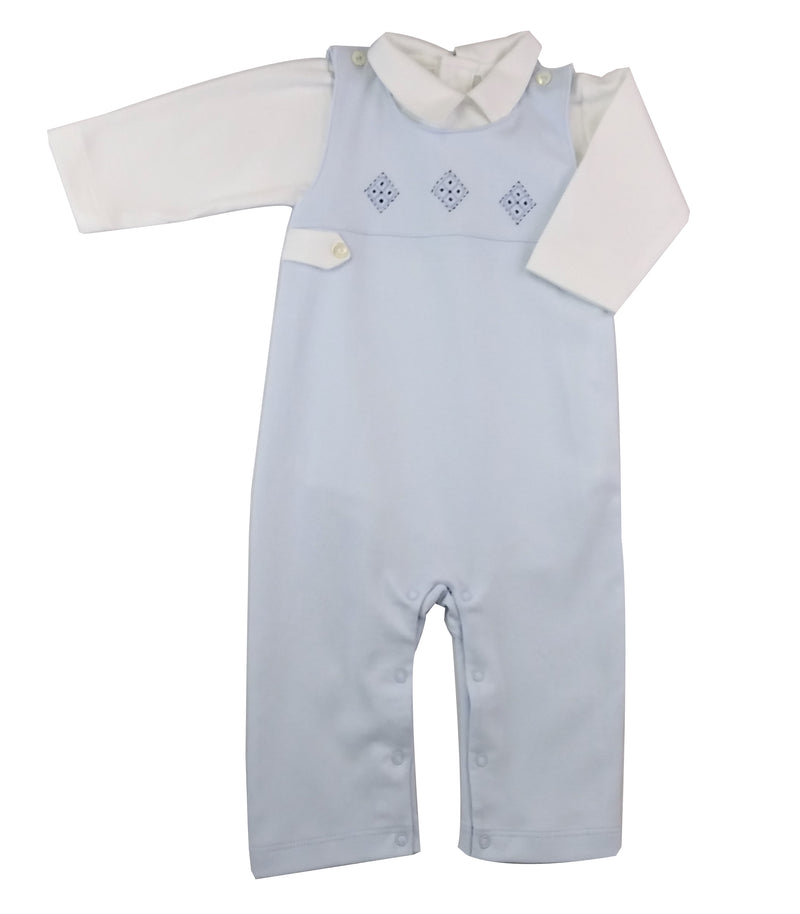 Argyle baby boy's Overall Set