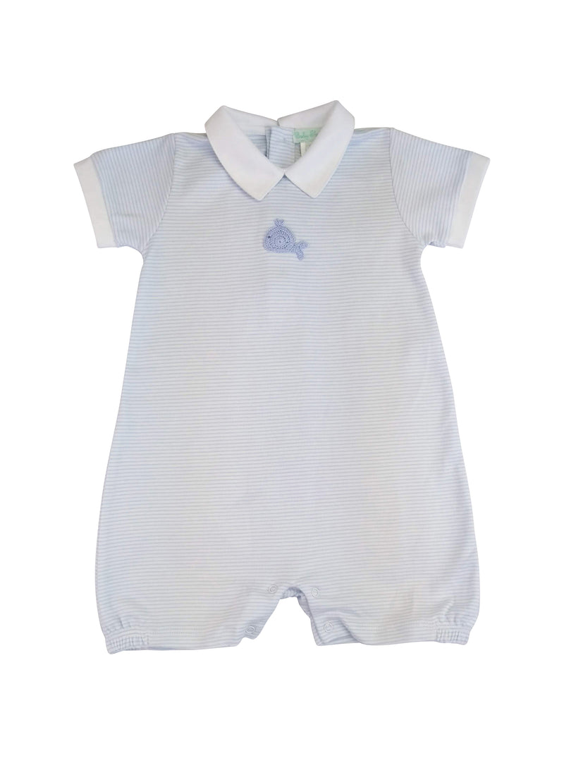 Baby Boy's Blue Whale Romper - Little Threads Inc. Children's Clothing