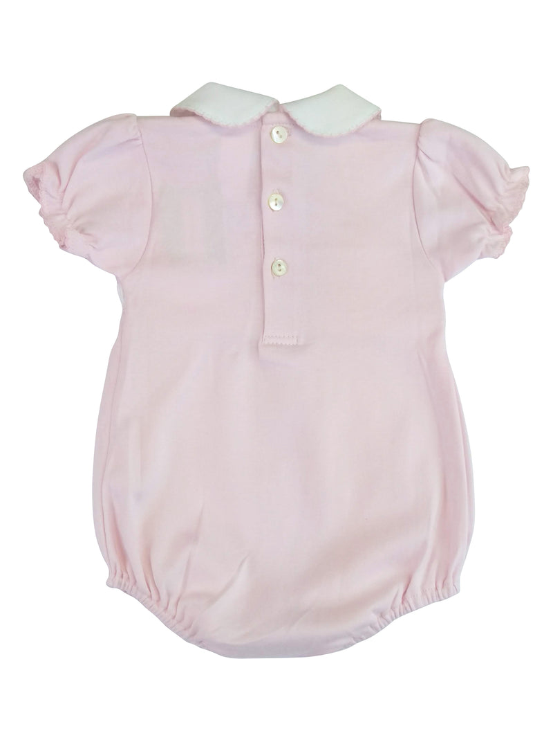 Baby Girl's Pink Bows Smocked Romper - Little Threads Inc. Children's Clothing