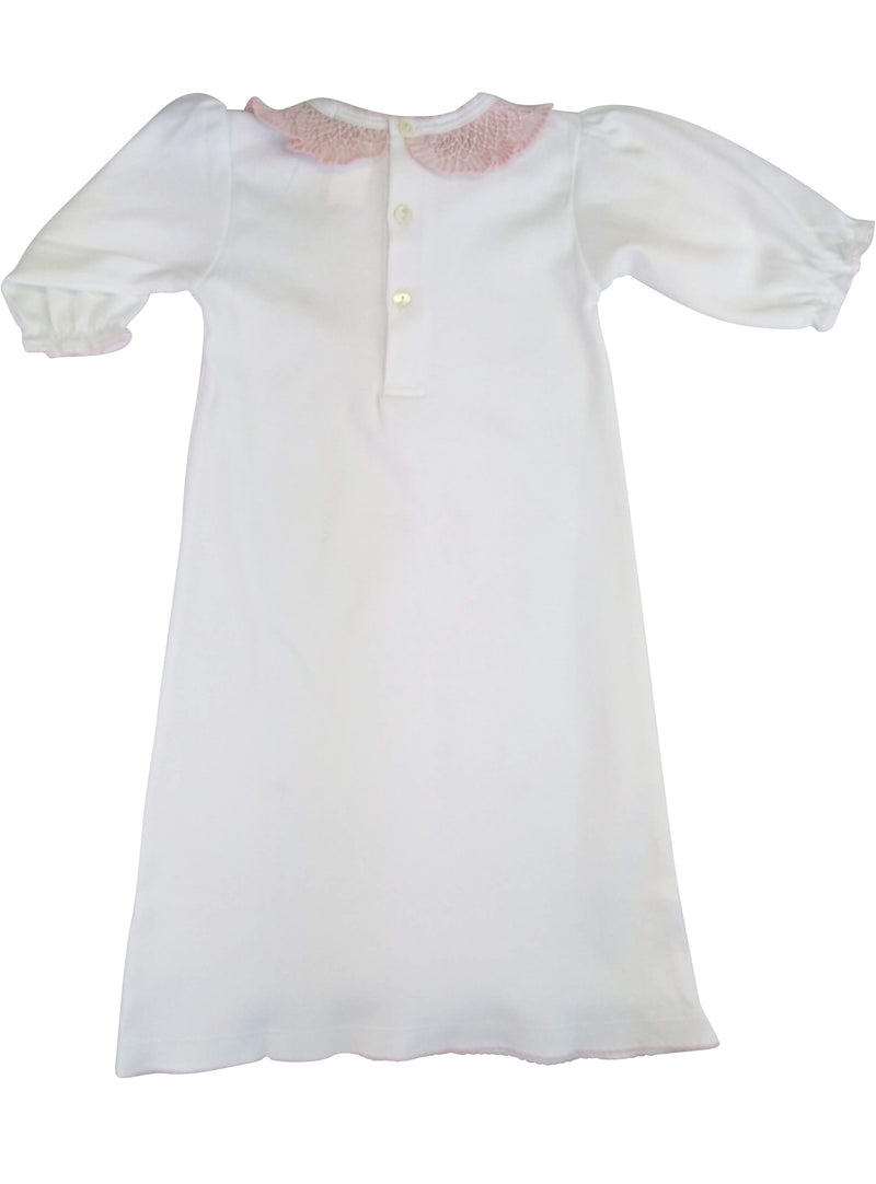 Baby Girl Pink Collar Daygown - Little Threads Inc. Children's Clothing