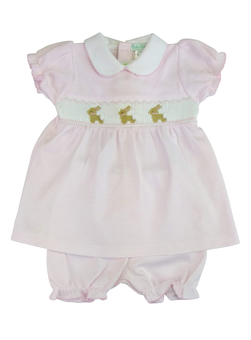 Pink Checkered Smocked Dress Set - Little Threads Inc. Children's Clothing