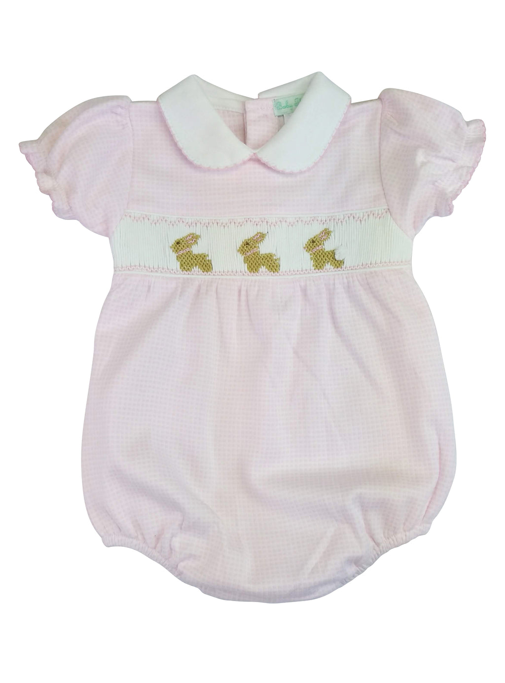 Baby Girl's Pink Checkered Bunny Onesie - Little Threads Inc. Children's Clothing