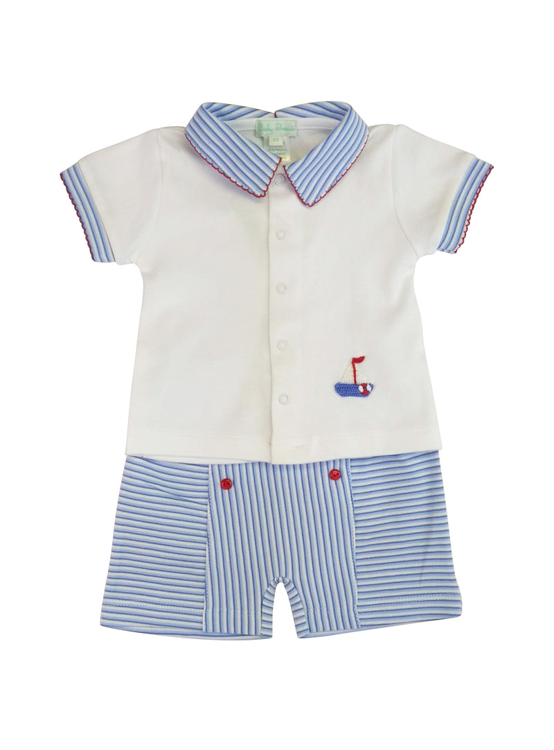 Baby Boy's Striped Sailor 2 Pc Set - Little Threads Inc. Children's Clothing