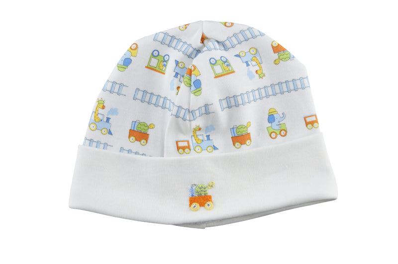 Animal train pima cotton baby boy hat - Little Threads Inc. Children's Clothing