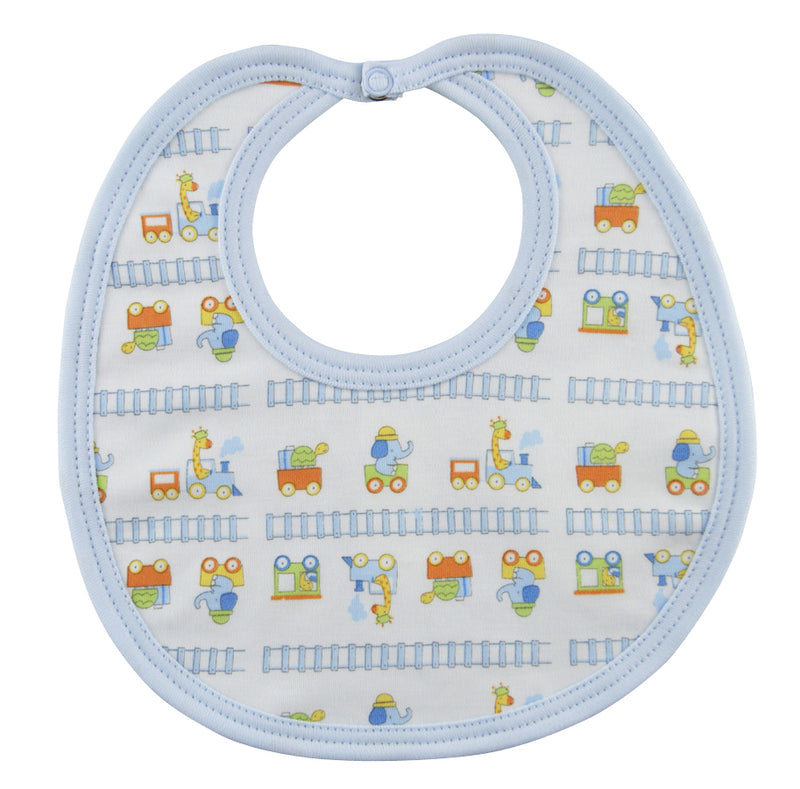 Animal Train Boy Bib - Little Threads Inc. Children's Clothing