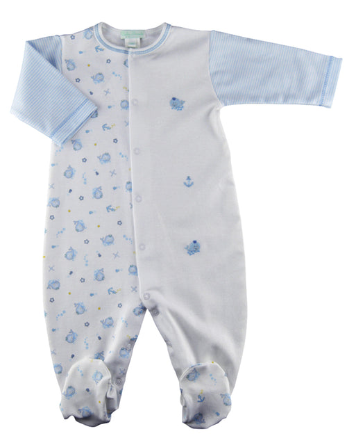 Baby Threads Whale Print Boy's Footie