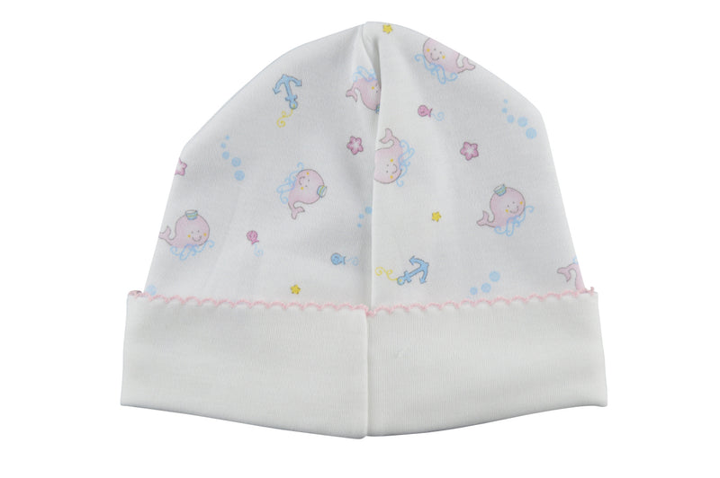 Baby Girl's Whale Print Hat - Little Threads Inc. Children's Clothing
