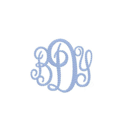 Oxford Filled Embroidery Font - Little Threads Inc. Children's Clothing