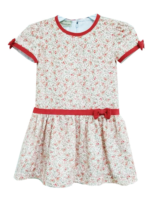 Floral Print Viyella Fall  Girl's dress