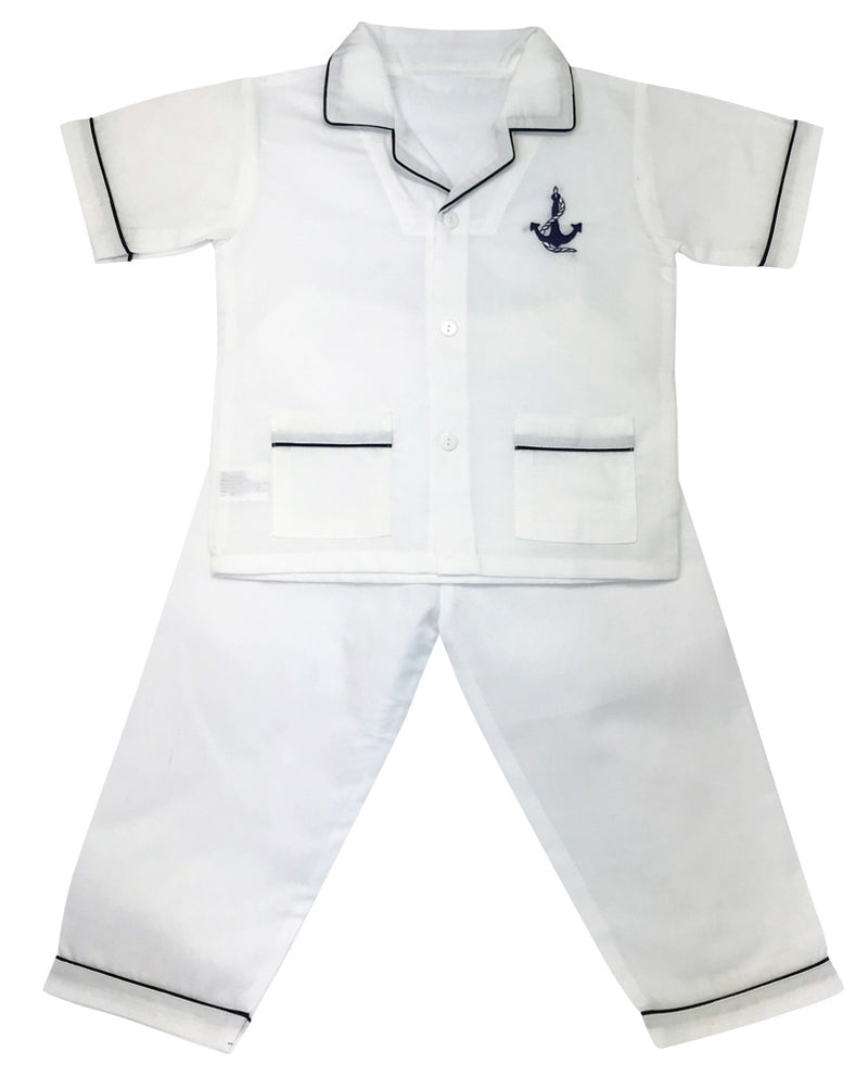 Anchor Boy's Cotton Pjs - Little Threads Inc. Children's Clothing