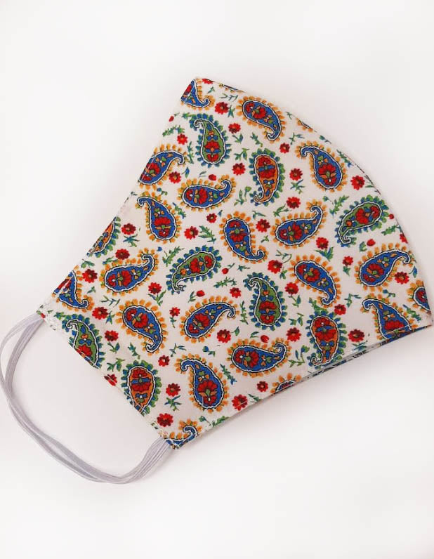 Paisley  Liberty of London print  mask - Little Threads Inc. Children's Clothing