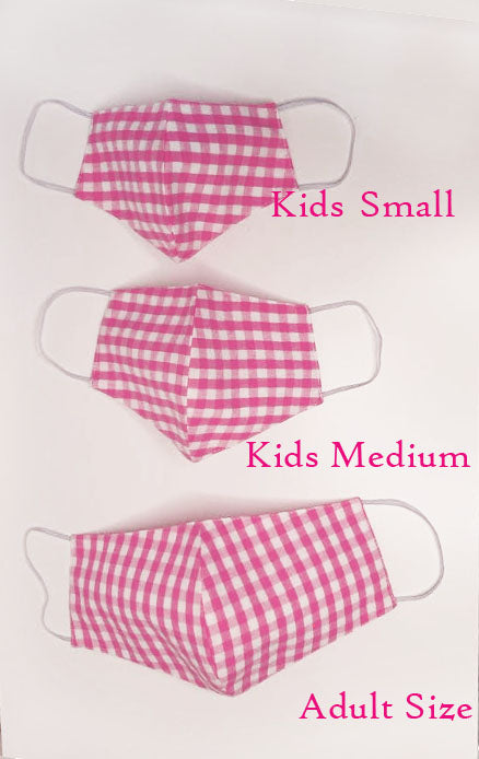Checks children Face Mask, - Little Threads Inc. Children's Clothing