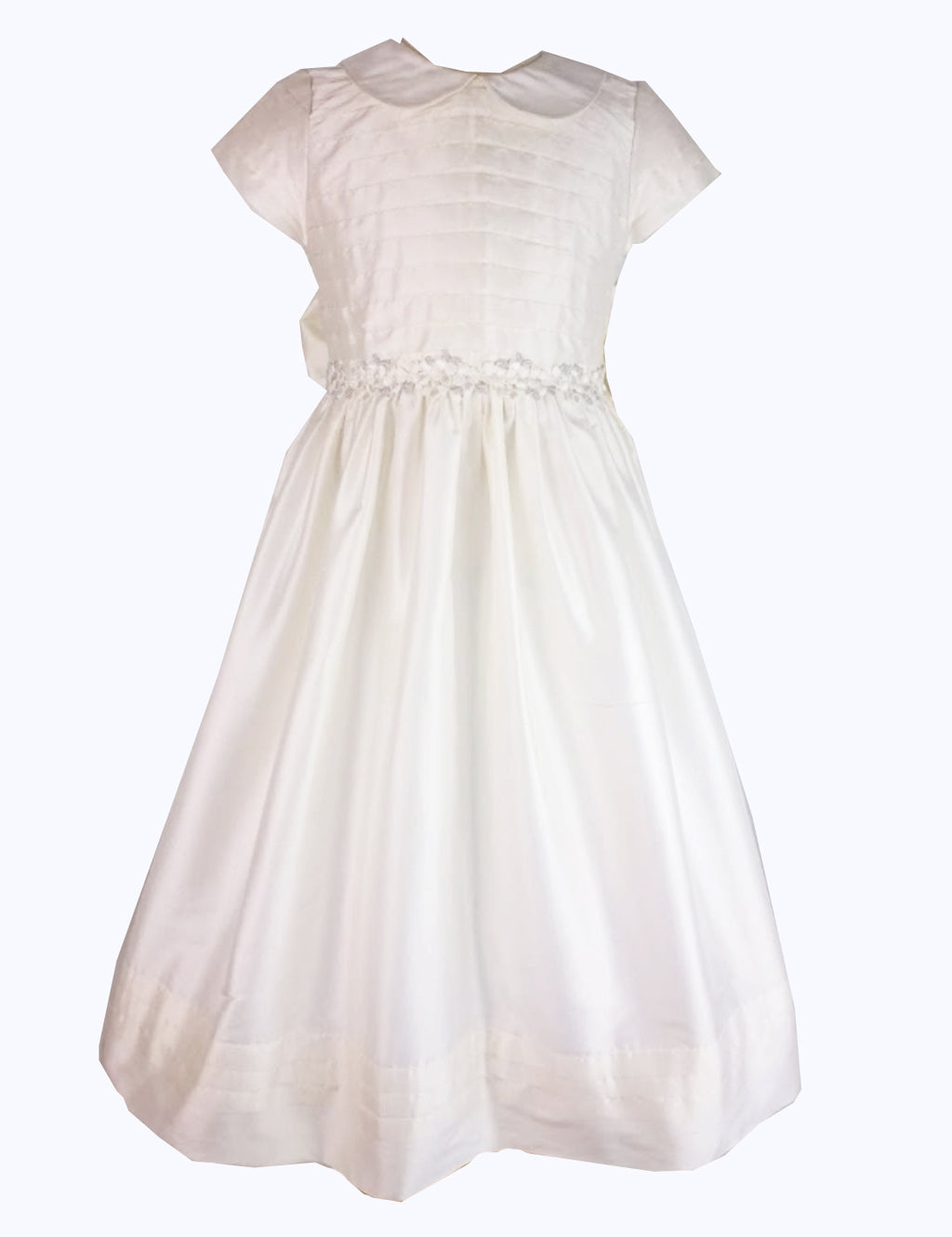 Silk First Communion Girl's dress - Little Threads Inc. Children's Clothing