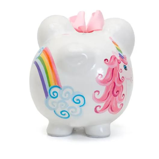 Unicorn and Rainbows Piggy Bank - Little Threads Inc. Children's Clothing