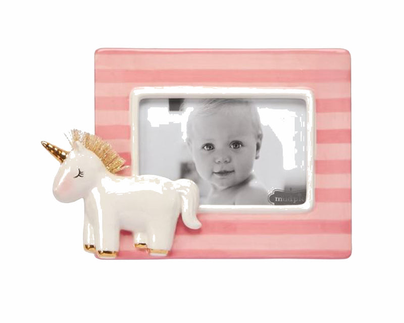 Unicorn Porcelain frame - Little Threads Inc. Children's Clothing