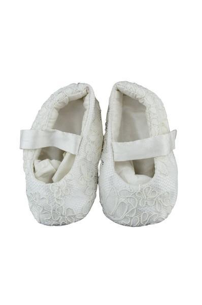 Silk Christening Booties - Little Threads Inc. Children's Clothing