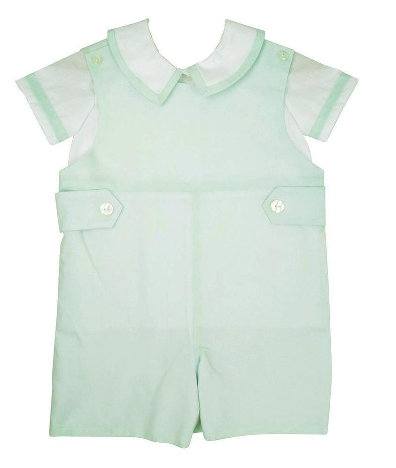 Mint Classic Overall Set - Little Threads Inc. Children's Clothing