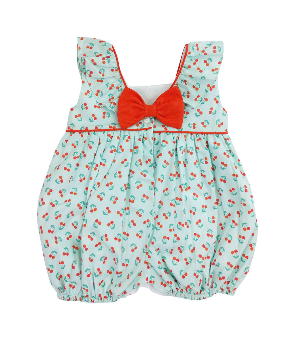 Cherries Ruffle Baby Girl Romper