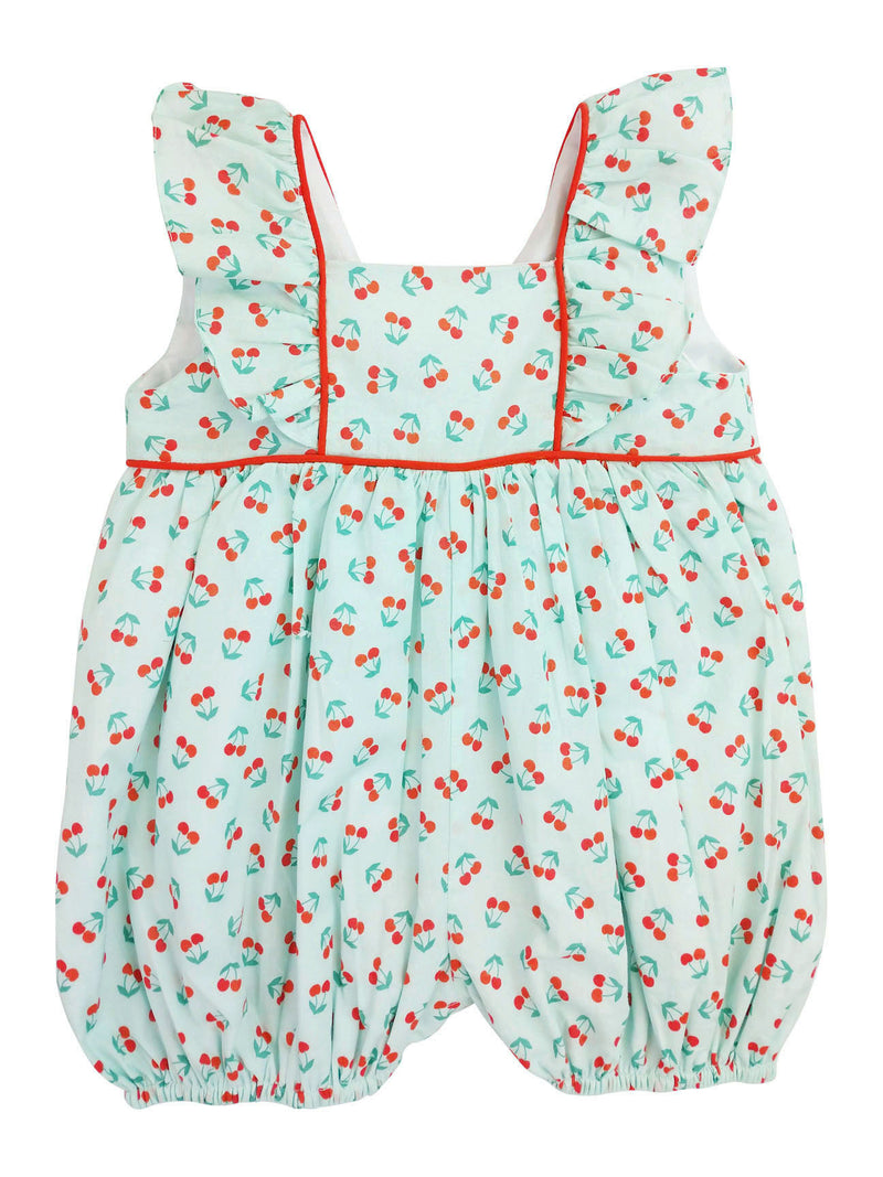 Cherries Ruffle Baby Girl Romper - Little Threads Inc. Children's Clothing