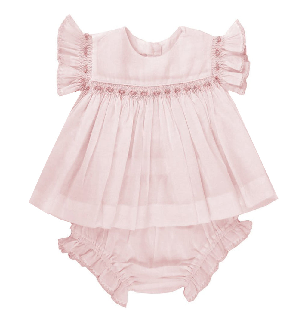 Heirloom Girl Pink Shirt & Diaper Set - Little Threads Inc. Children's Clothing
