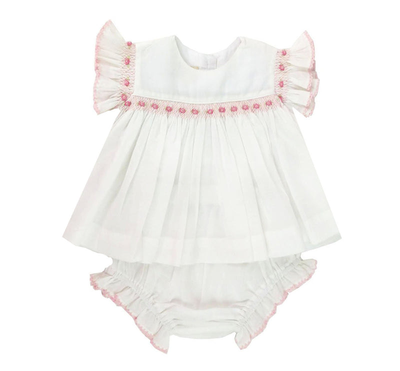Heirloom Girl Shirt & Diaper Set - Little Threads Inc. Children's Clothing