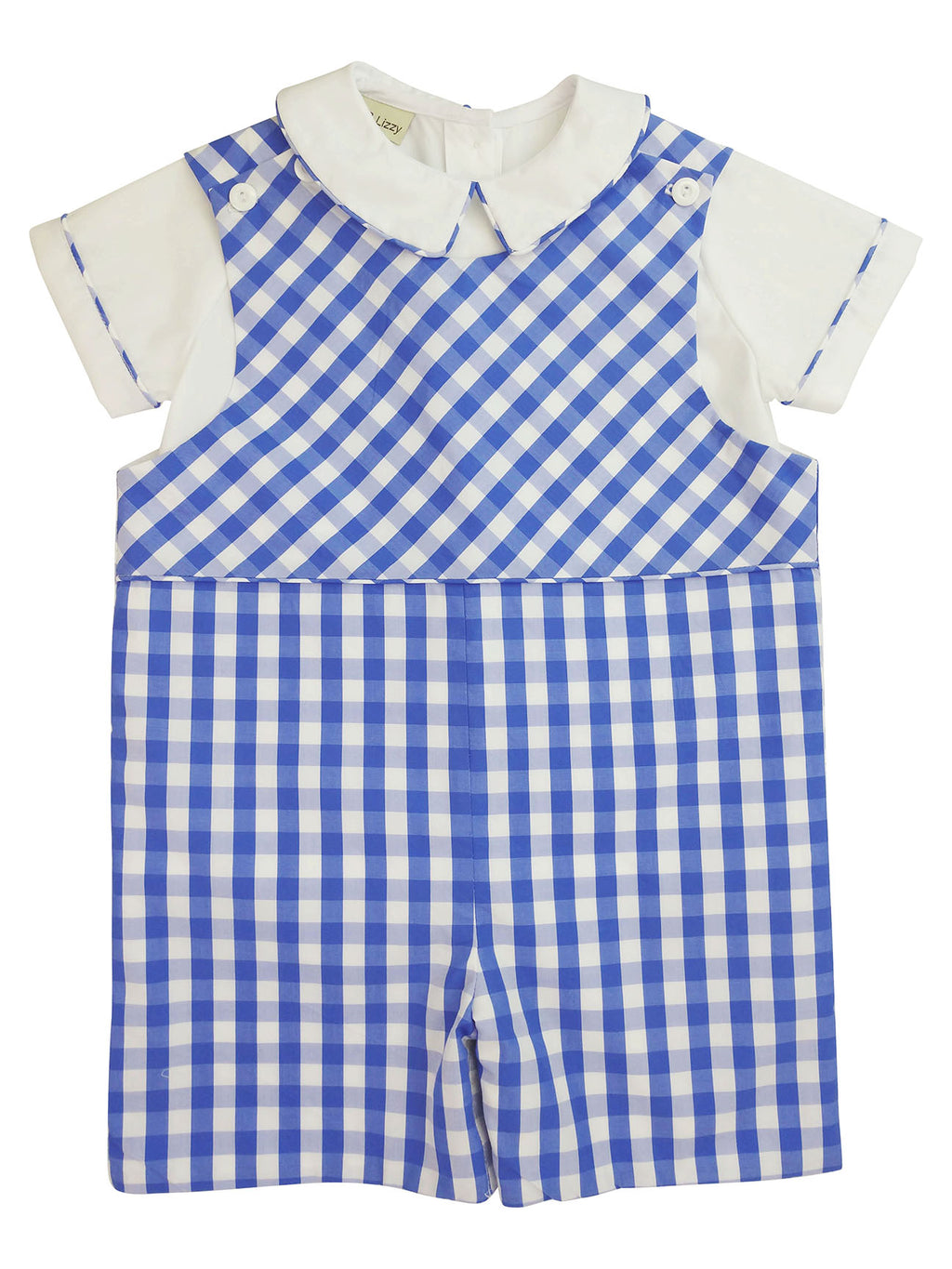 Andy Blue checks  boy's Overall set - Little Threads Inc. Children's Clothing