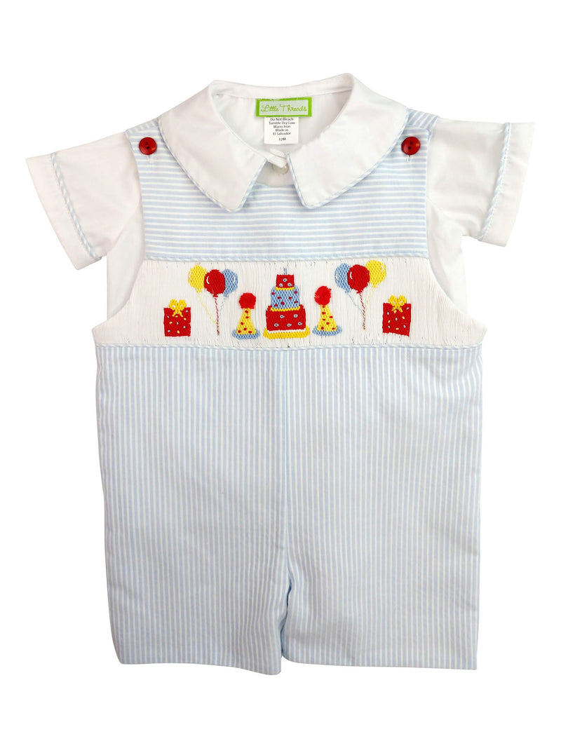 Birthday boy's overall - Little Threads Inc. Children's Clothing