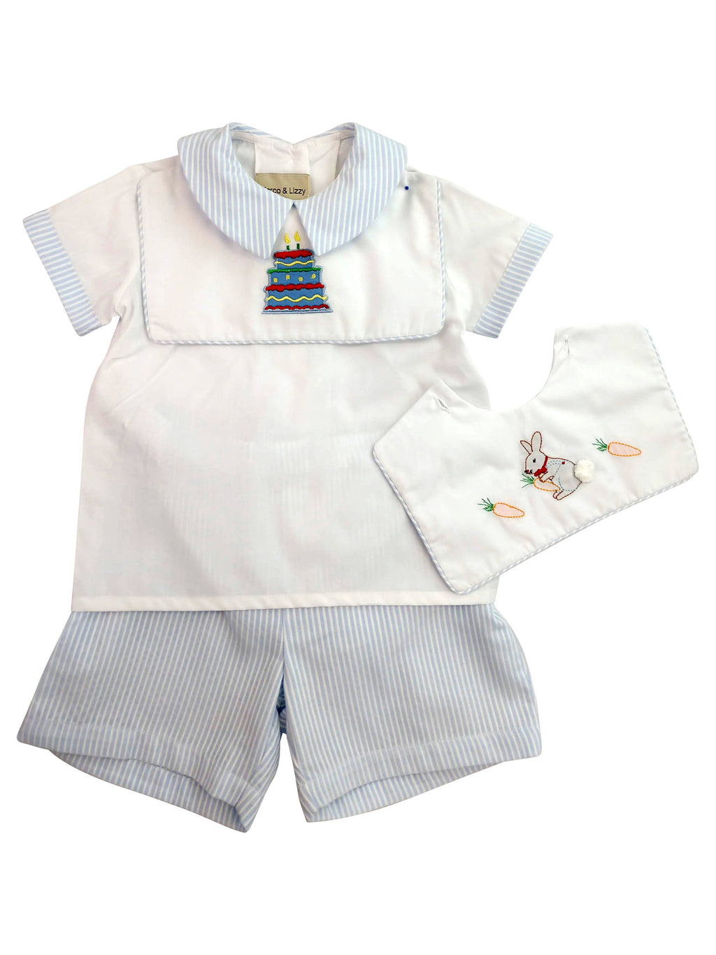 Birthday Boy's Short Set - Little Threads Inc. Children's Clothing