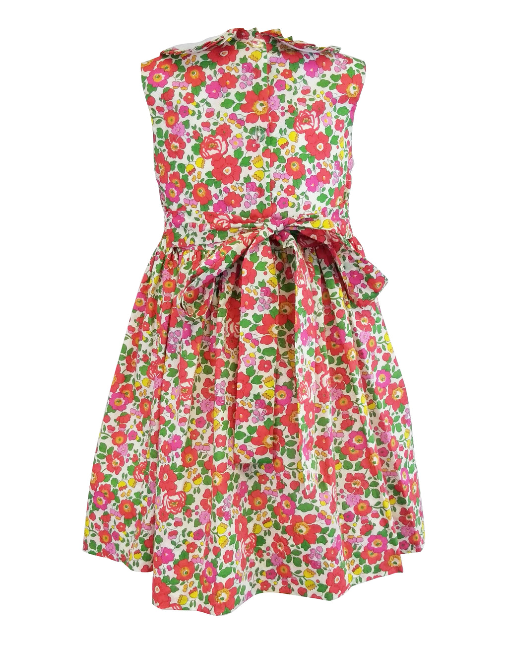 Betsy Liberty of London Smocked Collar Dress - Little Threads Inc. Children's Clothing