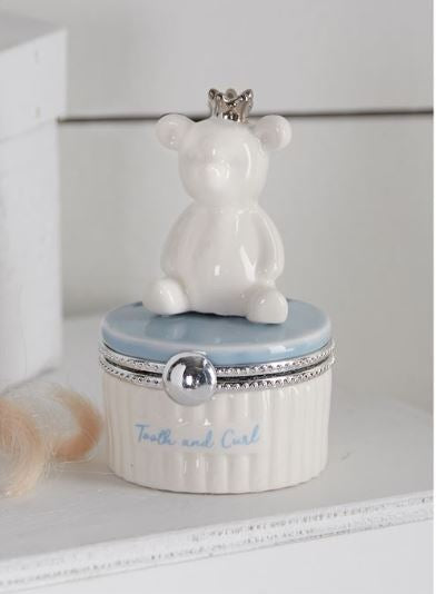 Blue Bear Tooth and curl Keepsake - Little Threads Inc. Children's Clothing