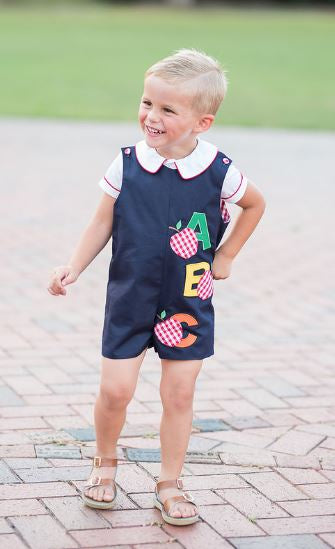 Little Threads Back to school Shortall set