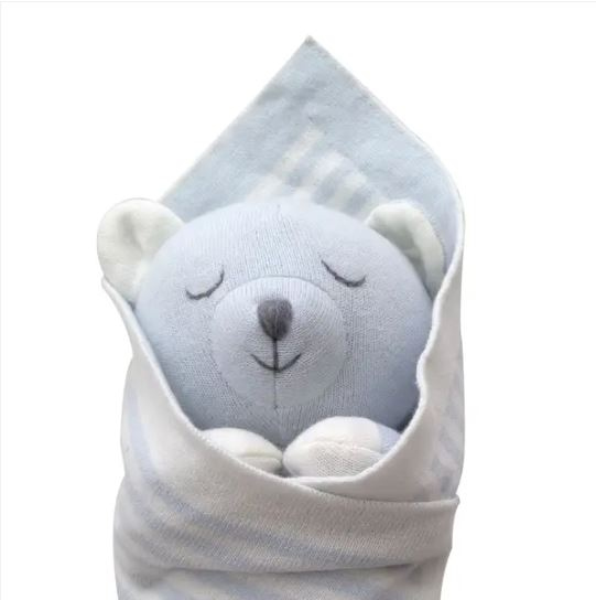 Blue Baby Bear  Stuffed Toy - Little Threads Inc. Children's Clothing