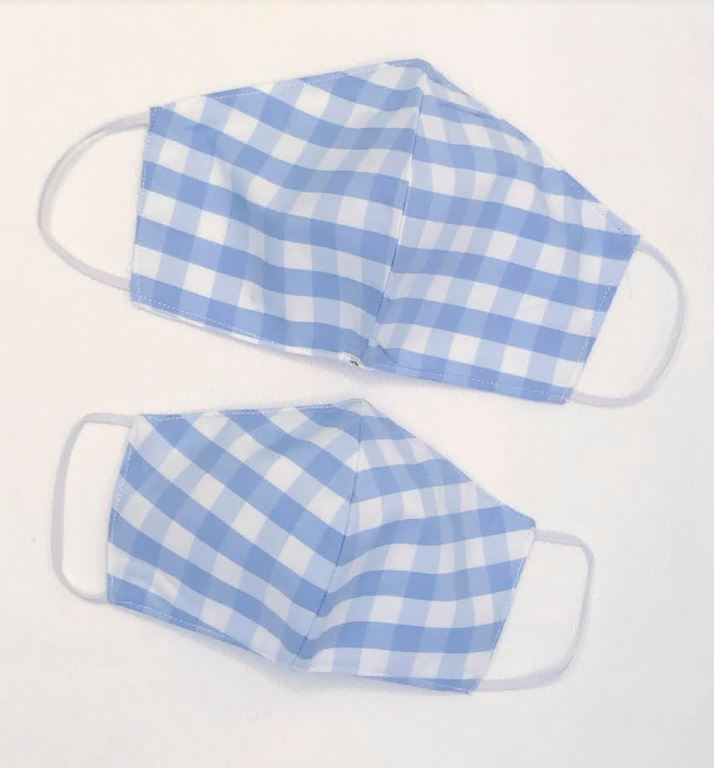 Blue checks Children mask, - Little Threads Inc. Children's Clothing