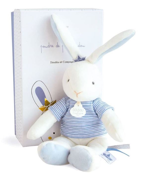 Blue Bunny Stuffed Animal - Little Threads Inc. Children's Clothing