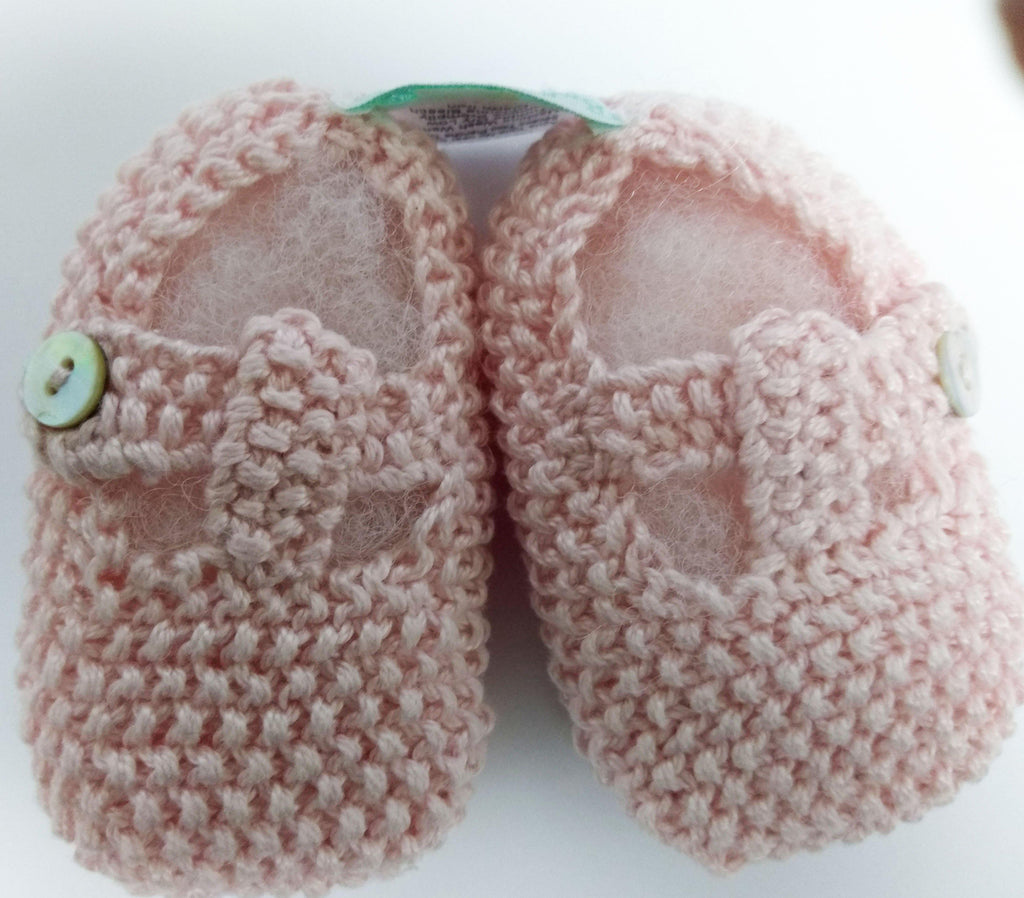 Baby Threads Mercerized Cotton Knitted Baby Shoes - Little Threads Inc. Children's Clothing