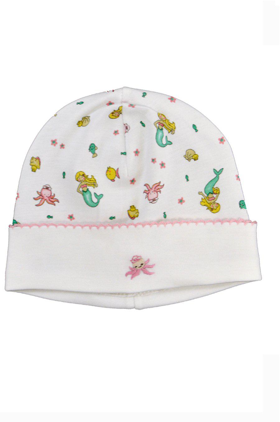 Mermaid & Octopus Print Hat - Little Threads Inc. Children's Clothing