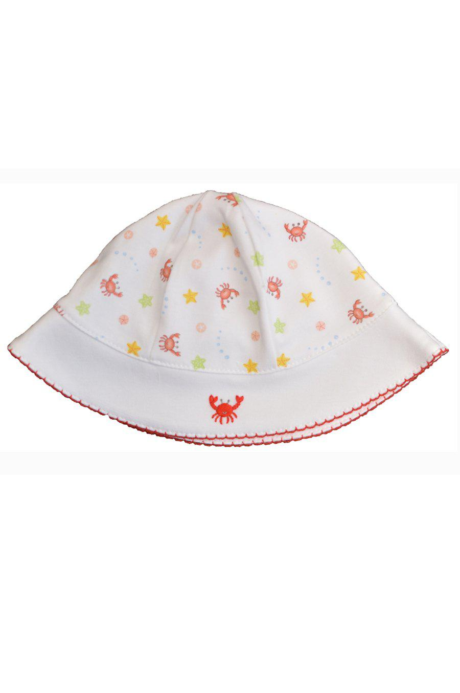 Crab Print Girl's Sun Hat - Little Threads Inc. Children's Clothing