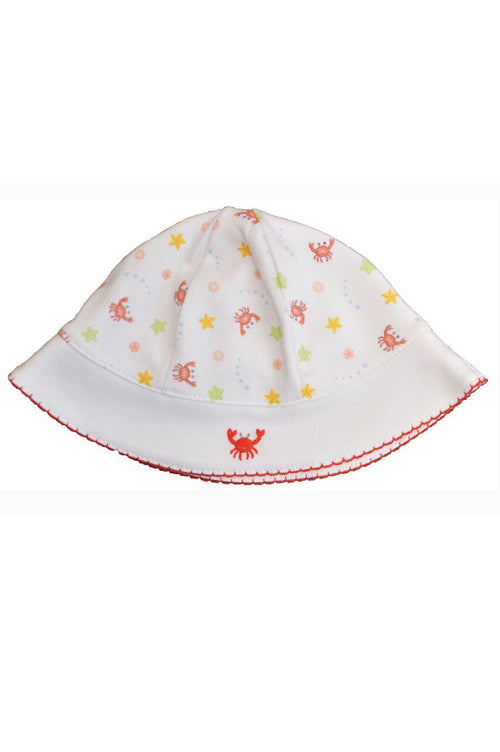 Crab Print Girl's Sun Hat