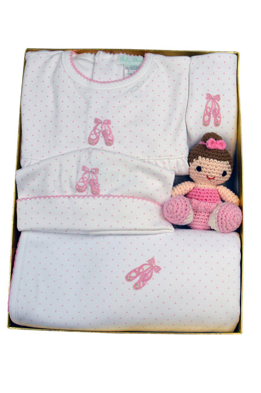Ballerina Gift Set with Rattle - Little Threads Inc. Children's Clothing