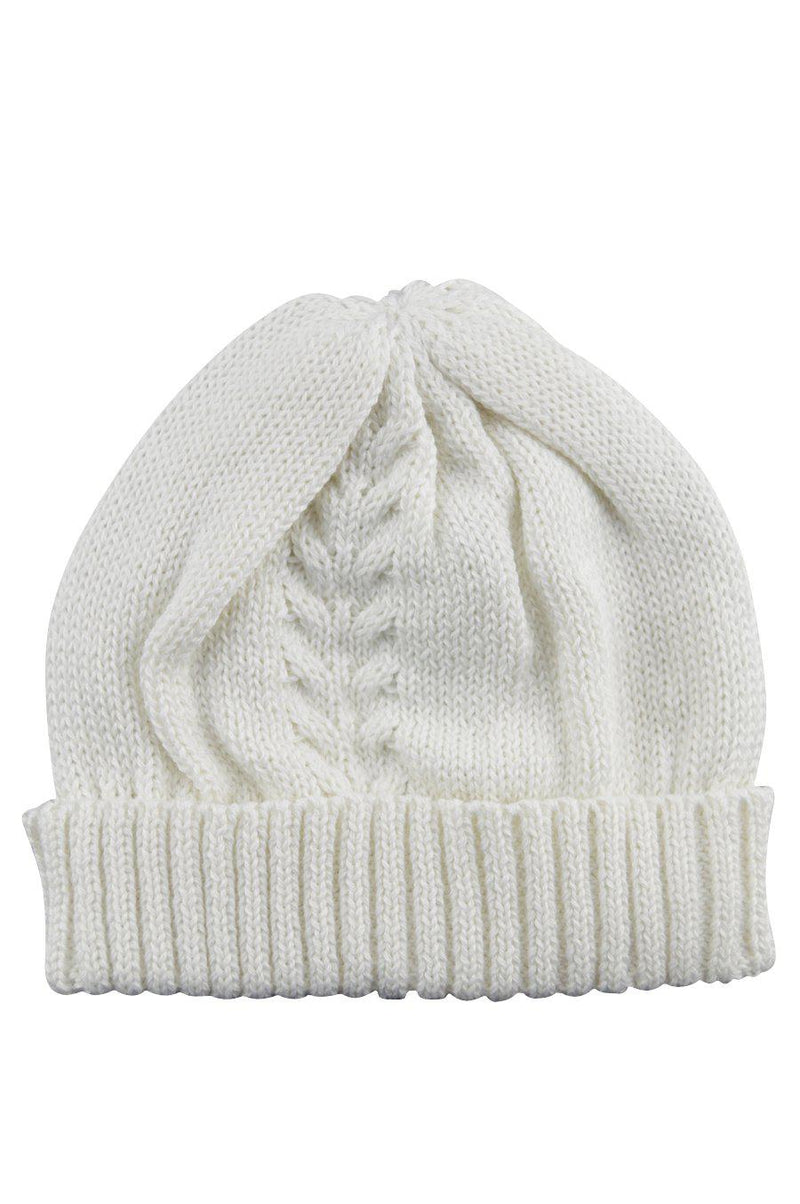 Ivory Knitted Hat - Little Threads Inc. Children's Clothing