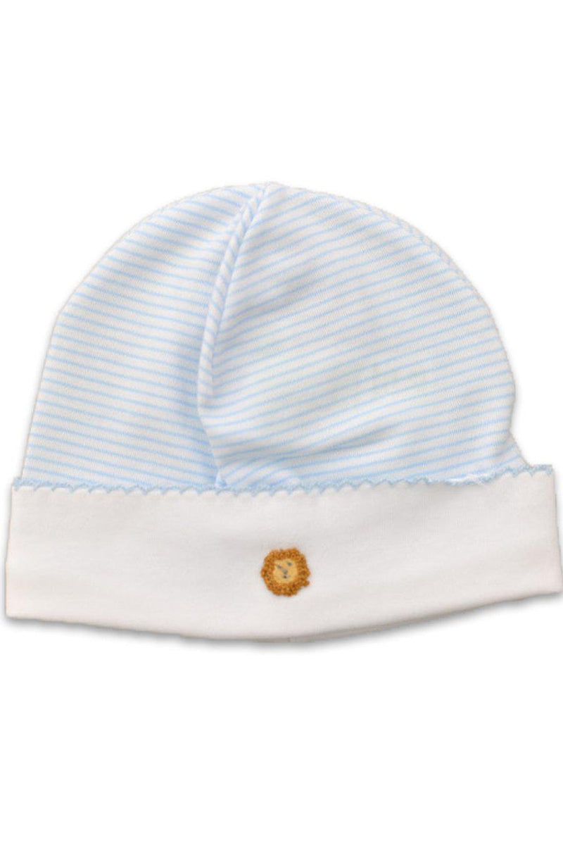 Animal Train Blue Striped baby boy hat - Little Threads Inc. Children's Clothing