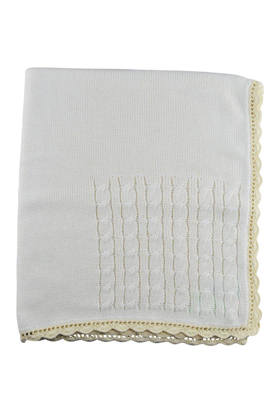 Ivory Knitted Blanket - Little Threads Inc. Children's Clothing