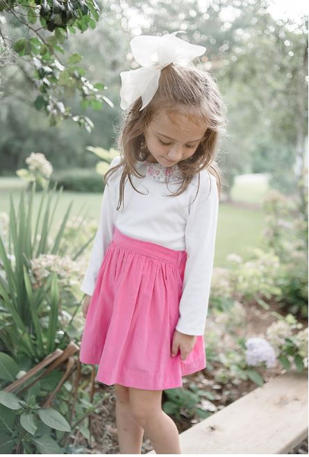 Felicite Pink cord skirt by Marco & Lizzy - Little Threads Inc. Children's Clothing