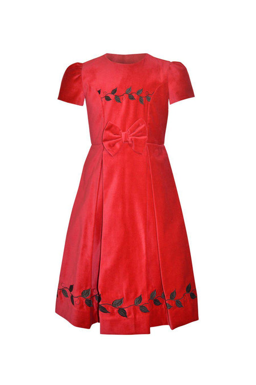 Marie Red Embroidered Dress