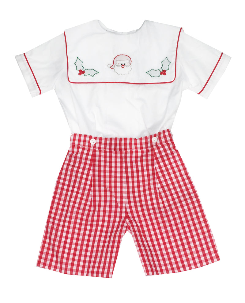 Boy's Santa Short Set - Little Threads Inc. Children's Clothing